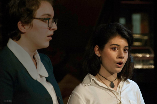 A duet at the mid-year singing concert
